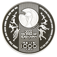 2002FIFAワールドカップ記念硬貨1000円銀貨
