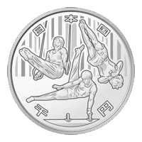 東京2020オリンピック競技大会記念硬貨(第三次)体操1000円記念銀貨幣