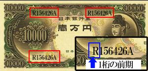 聖徳太子10000円紙幣前期