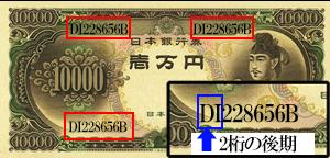 聖徳太子10000円紙幣後期