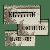 伊藤博文1000円紙幣「ぞろ目番号」