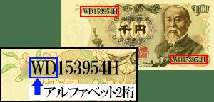 伊藤博文1000円札【2桁】