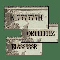 100円紙幣「ぞろ目番号」