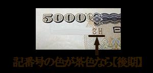 板垣退助100円紙幣表【前期】シリアル番号