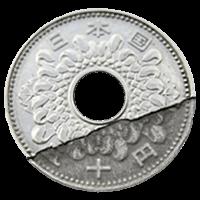 エラー50円硬貨「ヘゲエラー硬貨」